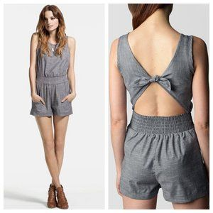 True Religion Chambray Tie Back Romper M